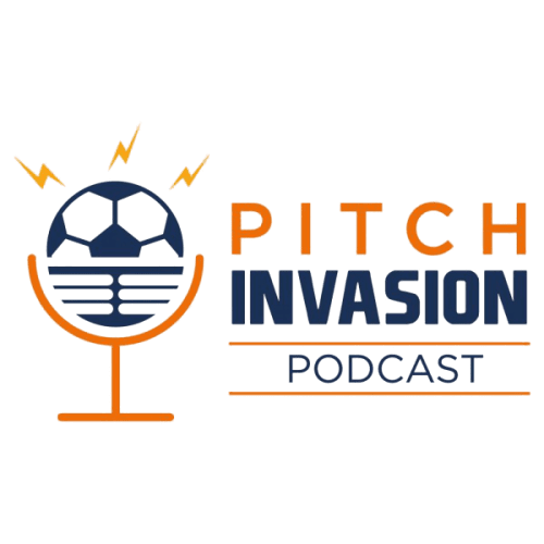 Pitch invasion podcast logo